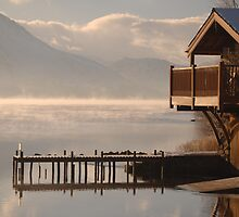 Boathouse Jetty Ullswater cumbria by angie coulston