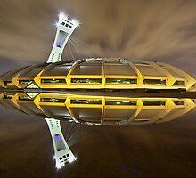 Olympic Stadium of Montreal at Night by Mark van Raai