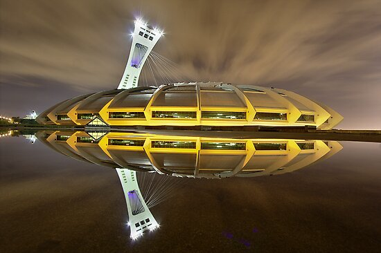 Olympic Stadium of Montreal at Night by Mark van Raai