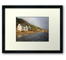 Road after rain in Norway Framed Print