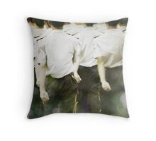 walk with deliberation Throw Pillow