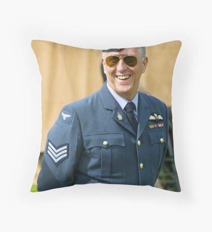 Man in Uniform Throw Pillow