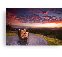 Sunrise Bench Canvas Print