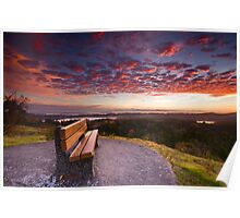 Sunrise Bench Poster
