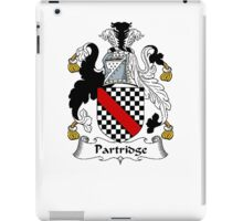 Coat of arms (family crest) for last-name or surname Partridge . Heraldry banner for your name. iPad Case/Skin