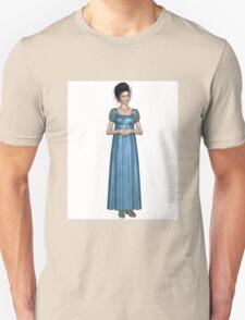 Regency Woman in Blue Dress Unisex T-Shirt
