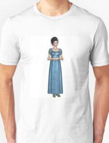 Regency Woman in Blue Dress T-Shirt