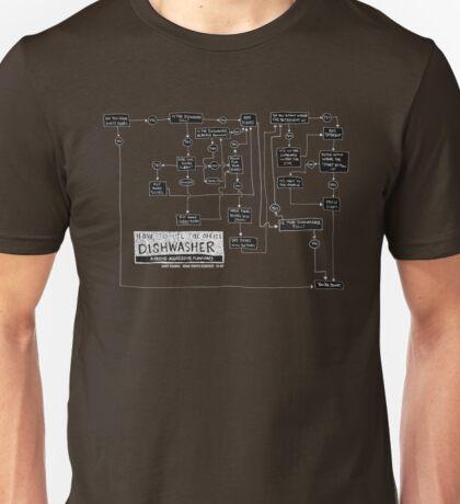 Dishwasher flowchart - dark Unisex T-Shirt