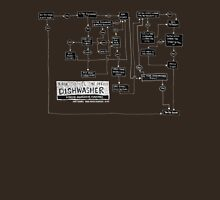 Dishwasher flowchart - dark Unisex T-Shirt