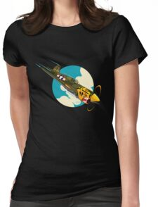 Aleutian Flying Tigers P-40  Womens Fitted T-Shirt