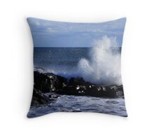 High Tide, High Winds, High Waves Throw Pillow