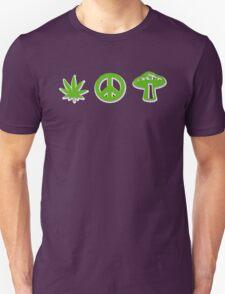 Marijuana Peace Mushrooms Unisex T-Shirt