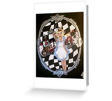 Escaping Through the Looking Glass Greeting Card