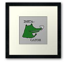 Inst(i)gator 2.0 Framed Print