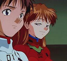 Neon Genesis Evangelion - Smug Asuka and Shinji - 2015 1080p Blu-Ray Cleaned Upscales by frictionqt