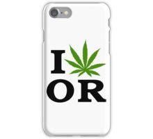 I Marijuana Oregon iPhone Case/Skin