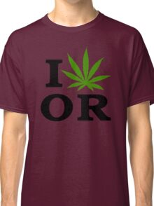 I Love Marijuana Oregon Cannabis Weed Classic T-Shirt