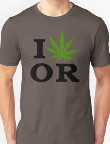 I Marijuana Oregon Unisex T-Shirt