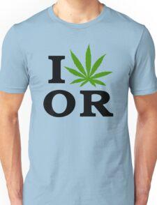I Love Marijuana Oregon Cannabis Weed Unisex T-Shirt