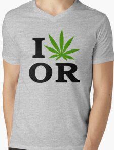 I Marijuana Oregon Mens V-Neck T-Shirt