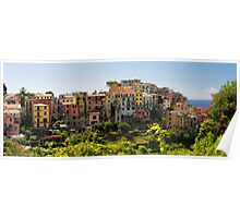 Panoramic View of a  Coastal Town Poster