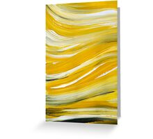Gold Waves Abstract Painting Greeting Card