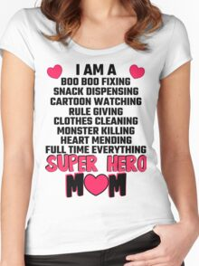 I Am A Super Hero Mom Women's Fitted Scoop T-Shirt