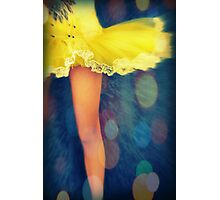 Party In A Yellow Dress Photographic Print