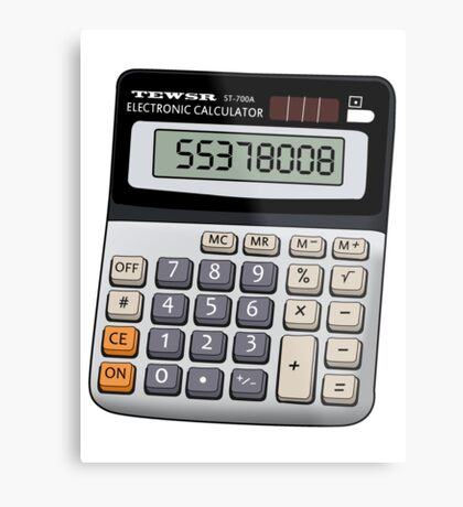 Naughty calculator Metal Print
