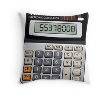Naughty calculator Throw Pillow