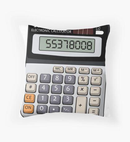 Naughty calculator Throw Pillow