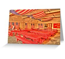 Dining Hall and Photographer Greeting Card