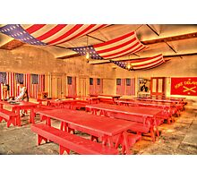 Dining Hall and Photographer Photographic Print