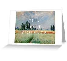 pvris / monet / smoke Greeting Card