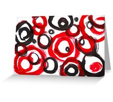 Circles Abstract Painting Greeting Card
