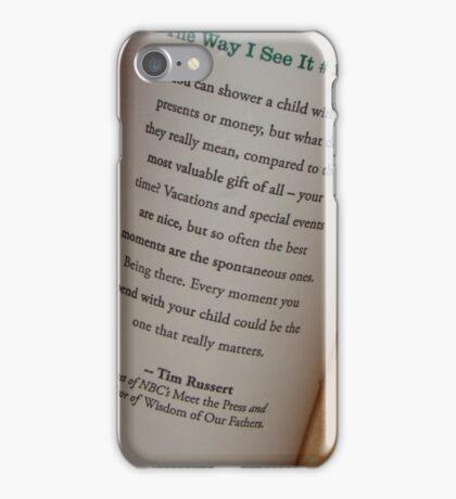 Tim Russert iPhone Case/Skin