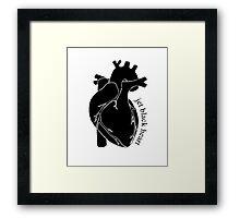 Jet Black Heart 2 Framed Print