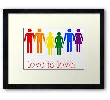 Love is Love Framed Print