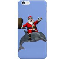 Santa Claus Riding A Dolphin iPhone Case/Skin