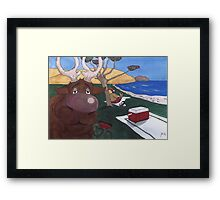 Chilling @ the beach Framed Print