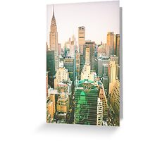 Chrysler Building and New York City Skyline Greeting Card