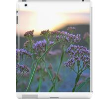 Scenic Wildflowers Against Sunset iPad Case/Skin