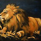 Contentment, the resting lion by Brian Tisdall