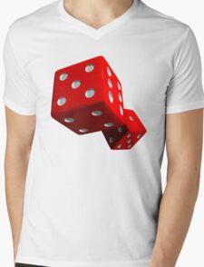 Red Dice Mens V-Neck T-Shirt