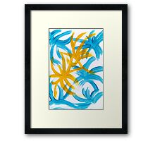 Palm Island Abstract Painting Framed Print