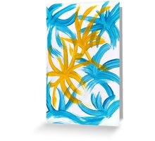 Palm Island Abstract Painting Greeting Card