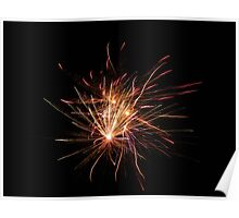 Neon Fireworks Poster