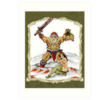 Santa Warlord V2 Art Print