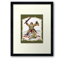 Santa Warlord V2 Framed Print