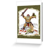 Santa Warlord V2 Greeting Card